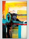 HANDMÅLAD Abstrakt Moderna / Klassisk / Traditionellt / Realism / Medelhavet / Parfymerad / Europeisk Stil,En panel Hang målad oljemålning