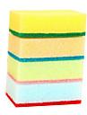 10st slumpmässig färg rengöringssvamp tyg