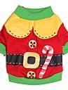Chat / Chien Costume / T-shirt Rouge / Vert Vetements pour Chien Hiver / Printemps/Automne Dessin-Anime Mignon / Cosplay / Noel