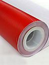"""lorcoo ™ 3d carbon de film din fibra de vinil înveliți 12 """"x60"""" foaie (gratuit cadou margine racletă)"""