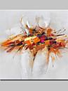 Peint a la main Abstrait / Fantaisie / POP Peintures a l\'huile,Modern / Traditionnel Un Panneau Toile Peinture a l\'huile Hang-peint For