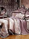 Geometrique Ensembles housse de couette 4 Pieces Melange soie/coton Luxe Jacquard Melange soie/cotonLit 2 Places \'Queen\' Lit 2 Places