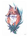 8st heta försäljning vattentät tillfällig tatuering klistermärke rödräv varg vatten överföring falska kvinnor män kropp armkonst tatuering