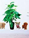 Djur Botanisk Stilleben Mode Fritid Väggklistermärken Väggstickers Flygplan Dekrativa Väggstickers Material Kan tas bort Hem-dekoration