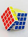 Yongjun® Cube de vitesse lisse 4*4*4 Vitesse Cubes magiques Blanc / Noir ABS