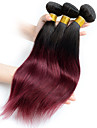 A Ombre Cheveux Bresiliens Droit 6 Mois 3 Pieces tissages de cheveux