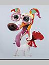 peinture a l\'huile peinte amis animaux chien lager main sur le mur de toile art picture frame whit decor a la maison