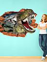 Animaux Stickers muraux Autocollants muraux 3D Autocollants muraux decoratifs,Papier Materiel Amovible Decoration d\'interieur Calque Mural