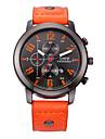 Bărbați Ceas La Modă Quartz Calendar Ceas Casual Piele Bandă Negru Roșu Orange Maro Portocaliu Albastru Închis Maro Rosu Roșu Închis