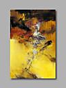 HANDMÅLAD Abstrakt olje~~POS=TRUNC,Moderna En panel Kanvas Hang målad oljemålning For Hem-dekoration