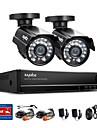 sannce® 4ch fullt 960h realtid CCTV dvr videoövervakning recorder med 800tvl mörkerseende väderbeständiga kameror