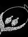 Set bijuterii Pentru femei Aniversare / Nuntă / Logodnă / Zi de Naștere / Petrecere / Ocazie specială Set Bijuterii Aliaj ȘtrasColiere /