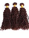 Human Hår vävar Brasilianskt hår Sexigt Lockigt 3 delar hår väver