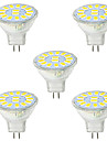 5W GU4(MR11) Lampe de Decoration MR11 15 SMD 5730 480LM lm Blanc Chaud / Blanc Froid Decorative 9-30 V 5 pieces