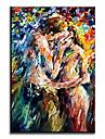 HANDMÅLAD Människor Moderna / Klassisk / Traditionellt / Realism / Medelhavet / Parfymerad / Europeisk Stil,En panel KanvasHang målad