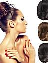 mariage mariee clips updo chignon bun tresses synthetiques extensions de cheveux droites couleurs multiples