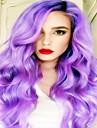 syntetisk spets front peruk lila färg sexig för svarta kvinnor cosplay peruker