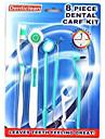 brosse a dents kit de soins dentaires brosse a dents soie dentaire bouche propre hygiene 8 outils regles (couleurs aleatoires)