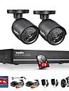 sannce® 4ch fullt 960h CCTV dvr videoövervakning recorder 800tvl kameror CCTV-system inbyggd 1TB