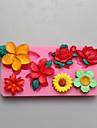 blommor form choklad silikon formar, kakformar, tvål formar, dekoration verktyg bakeware