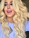 limfria syntetisk spets front peruk blond peruk långt lockigt peruk billig peruk högsta kvalitet