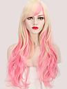 Femme Perruque Synthetique Ondulation naturelle Rose Perruque de Cosplay Perruque Halloween Perruque de carnaval Perruque Deguisement