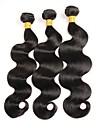 3 Pieces Ondulation naturelle Tissages de cheveux humains Cheveux Peruviens Tissages de cheveux humains Ondulation naturelle