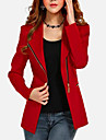 Women\'s Plus Size / Going out Vintage Coat,Solid ¾ Sleeve / Long Sleeve Fall / Winter Red / Black Cotton / Others Thin