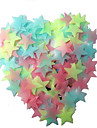 100st barn klibbiga barnens rum fluorescerande stjärnor pentagram stil dekorativa klistermärken
