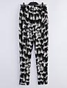 Femei Femei Pantaloni Sexy/Casual/Imprimeu/Drăguț(e)/Plus Size Harem Amestecuri Bumbac Micro-elastic