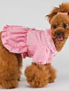 Fashion Dot Print Bowknot inredda Princess Klänning för husdjur Hundar (Blandade storlekar)