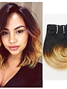 "Ombre cheveux extension corps vague cheveux humains 8 ""4pieces / lot # 1b / 27 cheveux tisses"