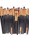 20 ensembles de brosses Pinceau Fard a Paupieres Pinceau en Nylon Professionnel Couvrant Ecologique Plastique Visage Autres