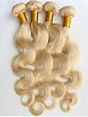 """3pcs / lot blanchiment ondes de corps blond 100% bresilien faisceaux de tissage de cheveux humains 8 """"-34"""" couleur de 613 extensions de"""