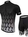 KEIYUEM® Cykeltröja med shorts Unisex Kort ärm CykelVattentät / Andningsfunktion / Snabb tork / Anatomisk design / Regnsäker / Vattentät