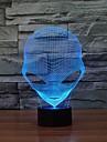 unik 3d speciell främmande form ledde bordslampa med USB-färgskiftande nattlampa