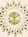 Rond Moderne/Contemporain Horloge murale,Autres Metal 70*70*7