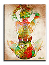 HANDMÅLAD Människor Parfymerad / Europeisk Stil / Moderna / Klassisk / Traditionellt / Realism / Medelhavet,En panel KanvasHang målad