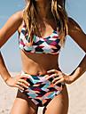 Femei Bikini Femei Cu Susținere Geometrică Nailon / Spandex