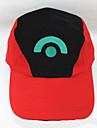 Hatt/Mössa Inspirerad av Pocket Monster Ash Ketchum Animé Cosplay Accessoarer Holk / figur Vit / Röd Bomull Man / Kvinna