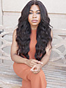 top skönhet bästa försäljning naturligt svart långt vågigt spets främre peruk värmebeständiga syntetiska hår kvinnor peruker
