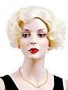 sexig kort stil blond färg Capless syntetiska peruker