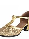 Latin / Modern-Pantofi de dans(Argintiu / Auriu) -NePersonalizabili-Damă