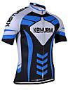 KEIYUEM® Maillot de Cyclisme Unisexe Manches courtes VeloRespirable Sechage rapide Resistant aux ultraviolets Zip frontal Antistatique
