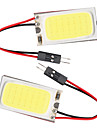 10st t10 cob 21 SMD LED-ljus panel bil auto interiör läsning karta parkering lampa lampa Ba9s spollampa kupol (12V)