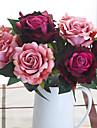 1 Une succursale Polyester Roses Fleur de Table Fleurs artificielles 29cm