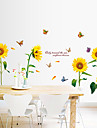 Floral Stickers muraux Stickers avion Stickers muraux decoratifs,PVC Materiel Amovible Decoration d\'interieur Wall Decal