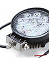 2 x 27w travail de spot LED barre lumineuse ronde lampe offroad camion de bateau de voiture SUV 12v 24v