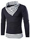 Bărbați Casul/Zilnic Simplu(ă) Regular Plover-Bloc Culoare Alb / Bej Manșon Lung Guler Pe Gât Lână Toamnă / Iarnă Mediu Micro-elastic