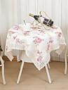 Carre Avec motifs Fleur Nappes de table , Polyester Materiel Hotel Dining Table